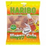 fournisseur HARIBO HAPPY COLA SOUR HALAL 100GR<br>