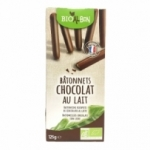 fournisseur Biscuits batonnet chocolat lait BIO<br>paquet 125g