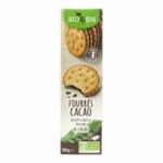 fournisseur BISCUIT FOURRE ROND CACAO BIO ALBON 185G<br>
