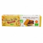 Biscuits avoine, citron & chia BIO France pqt 130g<br>