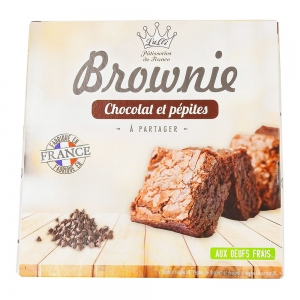 Brownie aux pépites de chocolat  paquet 285g  CT DE 8