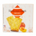 Barres biscuits coeur pomme abricot x6 pqt 125g<br>