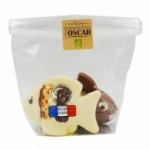 Moulages duo poissons chocolat BIO sachet 120g<br>
