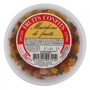 Fruits confits macédoine  pot 200g CT 12
