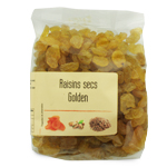 fournisseur Raisin golden<br>Import pqt 250 gr