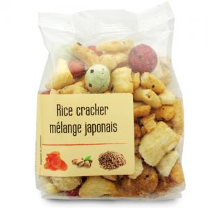 Mélange Japonais Rice cracker paquet 120g  Ct 10 sch 120 gr