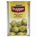Olives farcies anchois<br> boite 130g