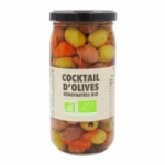 Cocktail d'olives dénoyautées BIO bocal 37cl<br>