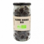 Olives noires BIO<br> pot 37 cl