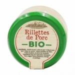 Rillettes de porc BIO France pot 180g  Carton 12 pots