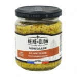 Moutarde à l'ancienne <br> pot 190g  Reine de Dijon