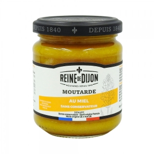 Moutarde au miel, pot 220g Reine de Dijon  CT DE 12