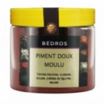 Piment rouge doux moulu<br>pot 100g Bedros