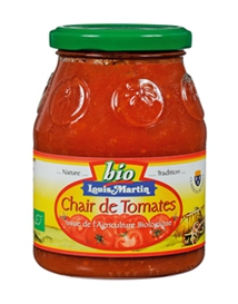 Chair de tomates BIO  bocal 400g Carton de 12 pots de 400 G