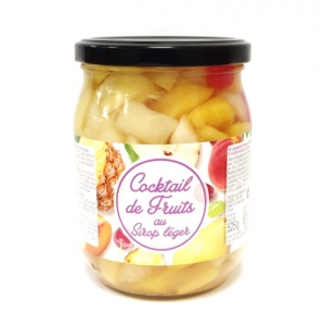 Cocktail de fruits au sirop léger  bocal pne 330g 12 POTS