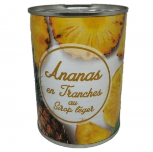 Ananas tranches au sirop léger boîte pne 340g 24 BTES