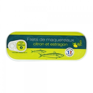 Filets de maquereaux citron-estragon conserve 176g CT 24