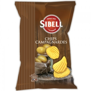 Chips campagnardes  paquet 135g Sibell CT 18 PQT