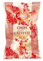 Chips crevette  paquet 80g CT 19 PQT
