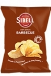 Chips saveur barbecue<br> paquet 100g Sibell
