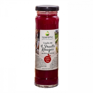 Coulis de 4 fruits rouges  bocal 156ml CT 10 FLAC