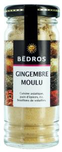 Gingembre moulu   flacon 40g Bedros  CT 6 FLAC