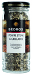 Poivres steak & grillades <br> flacon 45g Bedros