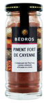 Piment fort de Cayenne <br> flacon 40g  Bedros