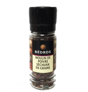 Moulin poivre séchuan en grains  flacon 20g Bedros CT 6