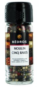 Moulin 5 baies   flacon 40g Bedros CT 6