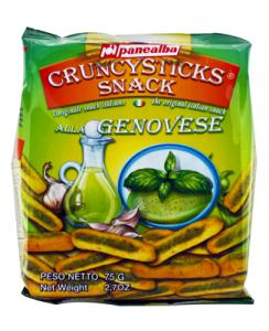 Grissini snack pesto genovese  paquet 75g Panealba CT 14