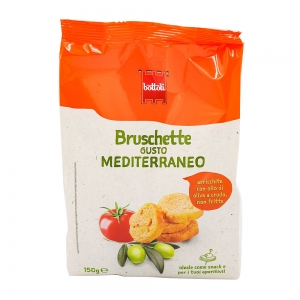 Mini bruschetta tomate et olive paquet 150g  CT DE 14