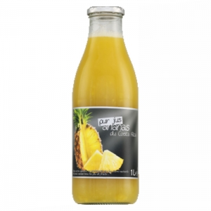 Pur jus d'ananas du Costa Rica  bouteille 1L CT 6 BOUT