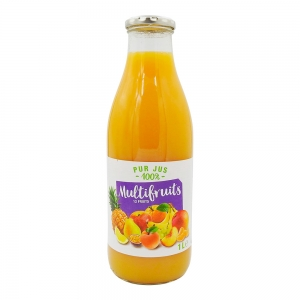 Pur jus multifruits 12 fruits bouteille 1L  CT 6