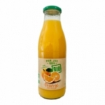 Pur jus d'orange avec pulpe BIO<br> btl 75cl