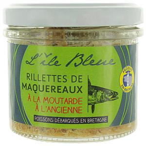 Rillettes maquereaux à la moutarde pot 100g CT 12 POTS