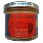 Rillettes Saint-Jacques & sel de Guérande pot 100g<br>